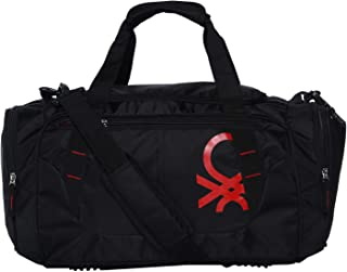 6c5bc14ec United Colors of Benetton Duffle Bag Polyester 50 cms Black/Red Travel  Duffle (0IP6AMDBBR03I