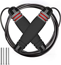Fitpolo Weighted Jump Rope for Kids/Men/Women with Memory Foam Handles and Thick Speed Cable - Ideal for Cardio Boxing MMA,Endurance Training Fitness Workouts Jumping Exercise