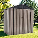 U-MAX 6' x 4' Outdoor Metal Storage Shed, Steel Garden Shed with Double Lockable Doors, Tool Storage...