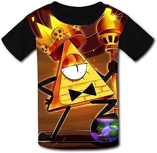 maichengxuan Camisetas de Manga Corta, T-Shirt Short Sleeve Kids tee Shirt Black Gravity Falls King Cute for Girls Boys