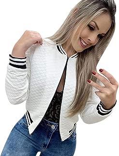 jin&Co Bomber Jacket Women Long Sleeve Zip Up Lightweight Classic Casual Baseball Bolero Jacket Outercoat