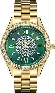 JBW Women's J6303 Mondrian Analog Display Japanese Quartz Gold Watch with Pave Diamond Face