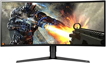 "LG 34GK950F-B 34"" 21:9 Ultragear WQHD Nano IPS Curved Gaming Monitor with Radeon FreeSync 2, Black"