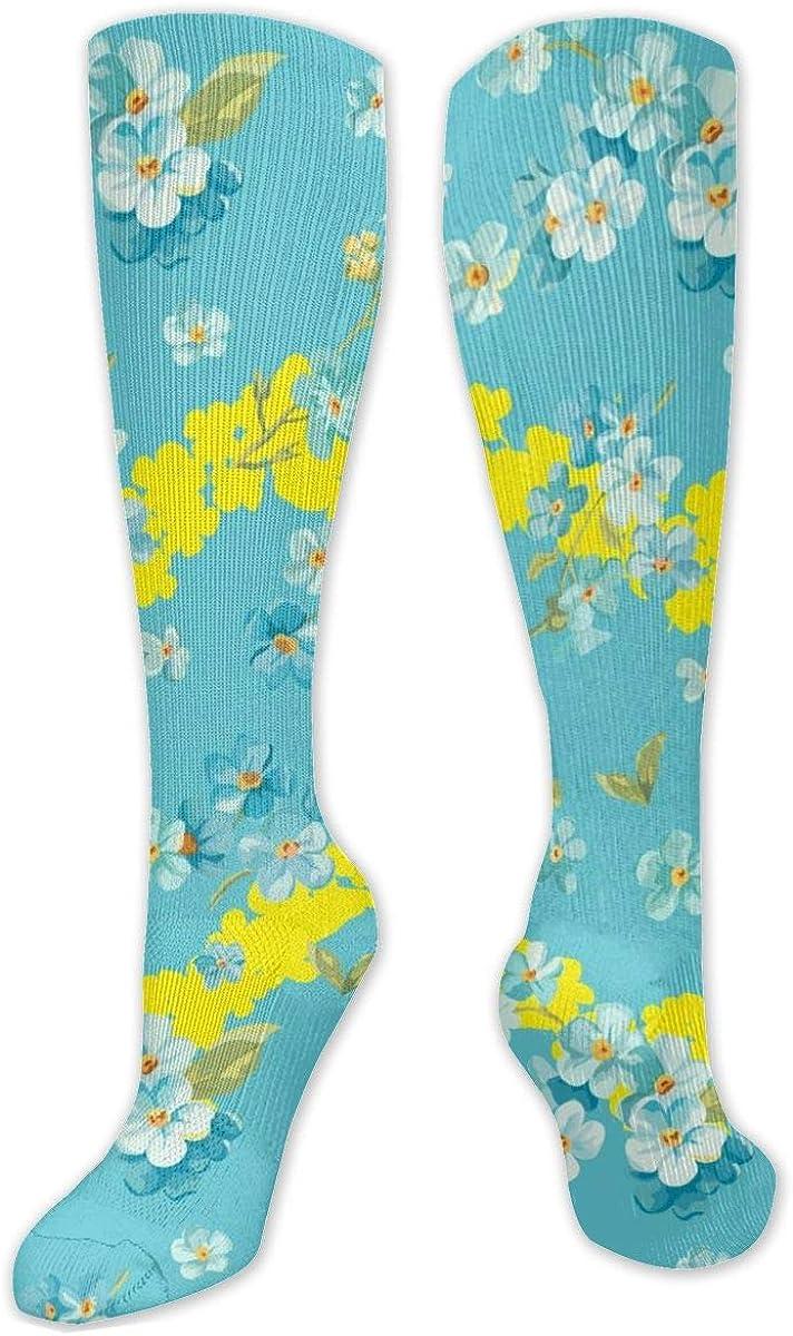 Flowers Heart Knee High Socks Leg Warmer Dresses Long Boot Stockings For Womens Cosplay Daily Wear