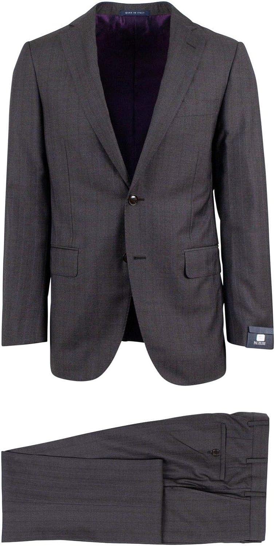 Pal Zileri Men's Charcoal Grey Striped Wool Two Button Suit 48/ R Drop 8 38 Gray