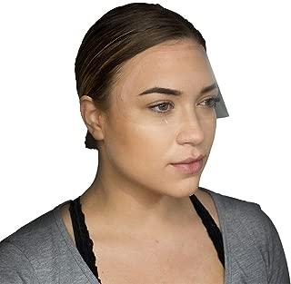 PMU Artist 100 PCS Eyebrow Tattoo Aftercare Shower Shield Bath Visor Disposable Face Mask for Eyelash Extension Kit, Fake Bangs, Lash Shampoo, Eyebrow Extensions, Microblading Kit, Eyebrow Makeup