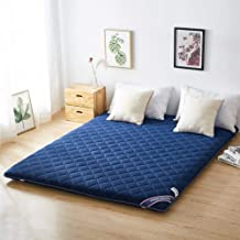 Tatami Mattress, 6cm Japanese Tatami Floor Mat, Foldable Futon Mattress Soft Thick Student Dormitory Mattress,Blue,150 * 2...
