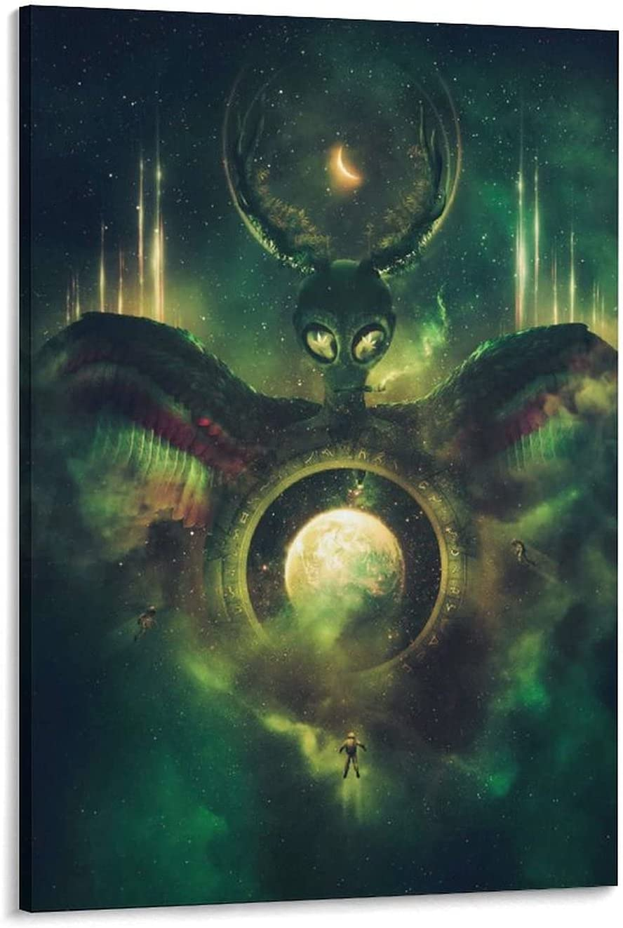 Jacksonville Mall Green Creatures in Outer Space Surreal Fw Poster P Art W Fantasy Max 76% OFF