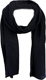 AN1225 Men's, Women's or Kids Basic Plain Knit Solid Color Scarf Muffler, Easy Neck Wrap