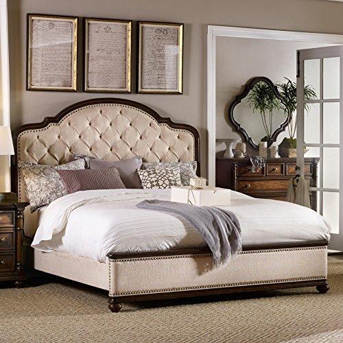 Hooker Furniture Leesburg Upholstered King Bed in Mahogany