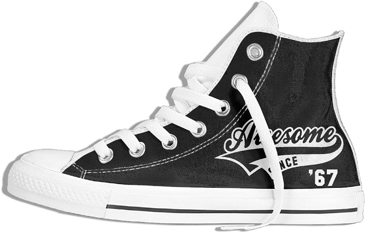 Efbj Awesome Since 1967 Birthday Unisex Sport High Top Sneakers shoes for Men and Women