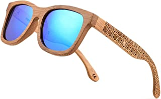 Bamboo Wood Polarized Sunglasses For Men & Women -Temple Carved Collection