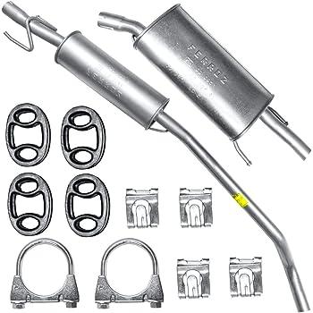 Schalldämpferset Mittelschalldämpfer Endschalldämpfer Montagesatz Auto