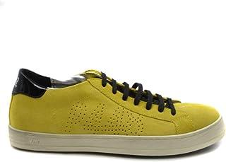 Luxury Fashion | P448 Men MCBI39496 Yellow Suede Sneakers | Season Outlet