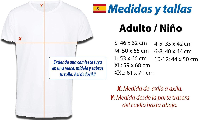 MERCHANDMANIA Camiseta Tacto ALGODÓN Bandera ESPAÑA Pais ...