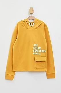 DeFacto Baskılı Kapüşonlu Sweatshirt Sweatshirt Kız çocuk