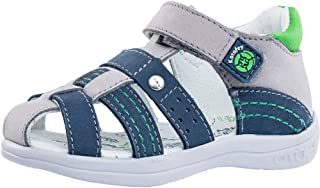 Kotofey Boys Blue Sandals 122120-22 Genuine Leather Orthopedic Sandals with Arch Support