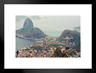 Poster Foundry Welcoming All to The Sunny City Rio De Janeiro Photo Art Print Matted Framed Wall Art 20x26 inch