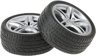 #es llantas de aluminio en negro para automóviles modelo 1:24