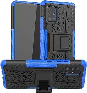 MI-KOU kompatibel med Samsung Galaxy A51 5G skyddsfodral + skärmskydd, dubbla lager tuff silikon TPU + PC stötskydd, drop ...