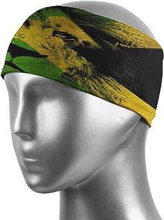 Kimisoy Jamaican Lion Flag Workout Headbands for Women Men Highly Absorbent Sweatbands Non-Slip Bandana Headband for Sport...