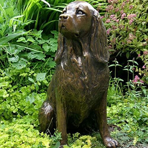 San Limited time trial price Jose Mall JZENZERO Springer Spaniel Statue Garden Dog S Animal Decor Resin