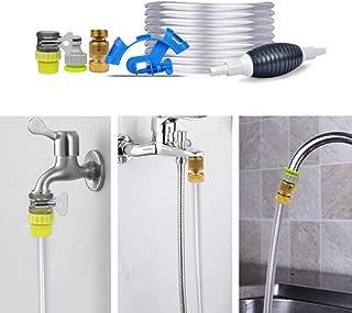 Juego Completo de Cambio de Agua para acuarios, Sistema de Cambio rápido de Agua Aqua In-out Simple con Tubo Suave de 5 my conexión de Grifo Universal, sin BPA, Seguro para Animales