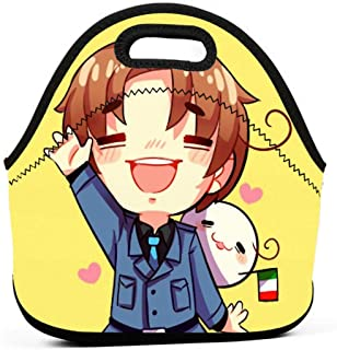KILILY Italy - Hetalia Men Women Kids Insulated Lunch Bag Tote Reusable Lunch Box For Work Picnic School