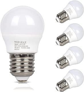 Pack of 4 4.5W Globe Golf Ball LED Bulb E27 Edison Screw Energy Saving Lamp Light Non Dimmable 3000K Warm White 30W Halogen Bulbs Equivalent 320 Lumen 200 Beam Angle Indoor Dining Living Bedroom Readi