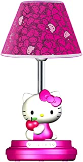 Hello Kitty KT3095AM Table Lamp Magenta W/Character Base Home & Garden