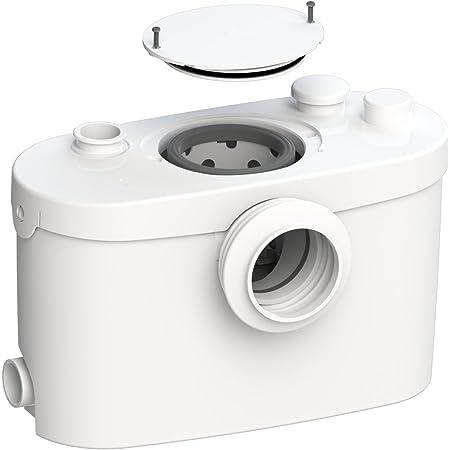 SFA 0015UP SANI PRO XR UP - Bomba de elevación, perfecta para la instalación de un cuarto de baño, evacúa aguas residuales y válvulas hasta 5 verticalmente o 100 metros horizontalmente, color blanco
