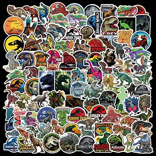 ZNMSB 100 Piezas en Jurassic Park Dinosaurio Bosque Dibujos Animados Graffiti Pegatinas monopatín Pegatinas Equipaje portátil Coche Pegatinas