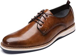 Men's Wintip Oxford Dress Shoes Lace-up Fashion Business Casual Sneaker