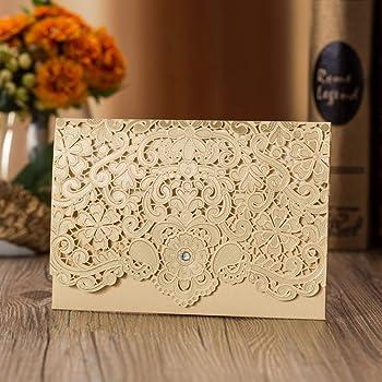 Bianco Jindowine VStoy Laser Cut inviti da Matrimonio Kit Stile Europeo Invitation Greeting Card 20pcs Bowknot Inviti di Nozze Holiday Greeting Card