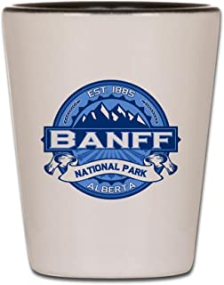CafePress - Banff Natl Park Cobalt - Shot Glass, Unique and Funny Shot Glass