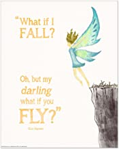 ECHO-LIT, LLC Oh, But Darling, What if You Fly? Children's Literature Inspirational Quote Poster for Home, Classroom or Library