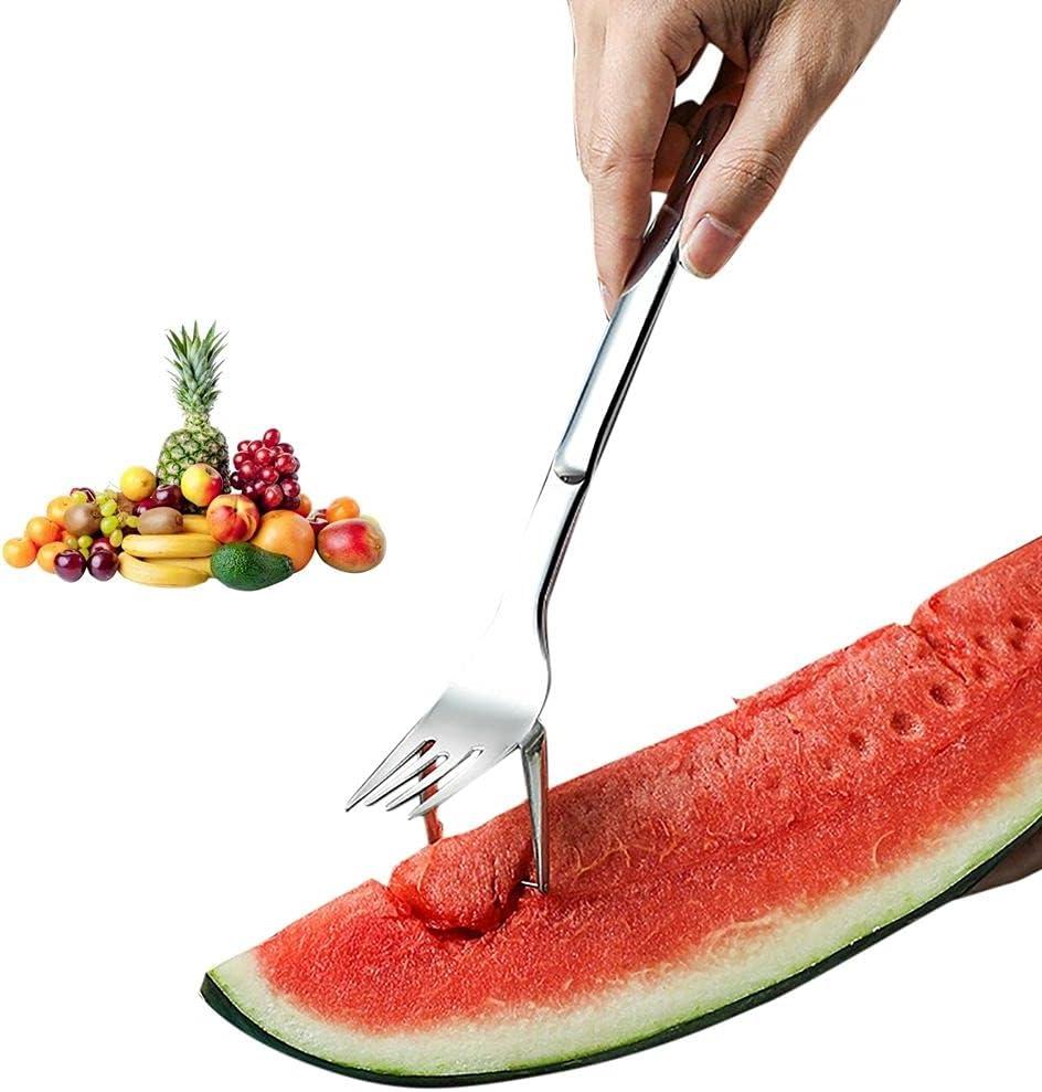 UPUPUP 2-in-1 Watermelon Fork Slicer Knife Portland Mall Corer Denver Mall Stainle Cutter