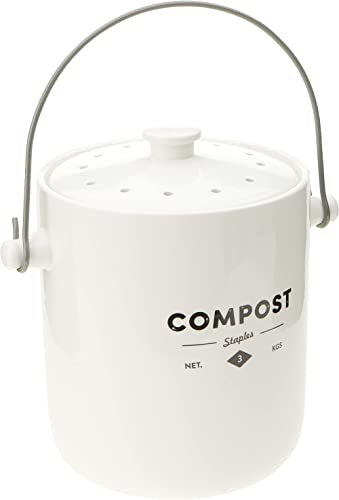 ECOLOGY EC47210 Staples Foundry Compost Bin with Handle