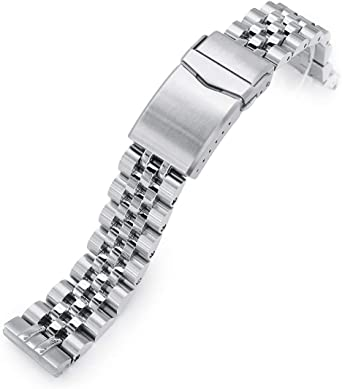 Cinturino per orologio Angus-J Louis 316L in acciaio inox per Seiko SBDC053 aka moderno 62MAS