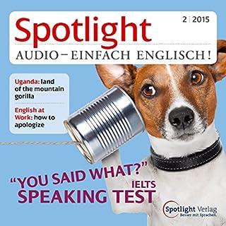 Spotlight Audio- Speaking test. 2/2015 Titelbild