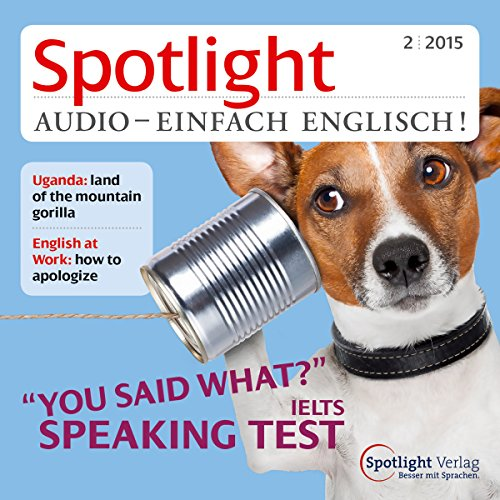 Spotlight Audio- Speaking test. 2/2015 Titelbild