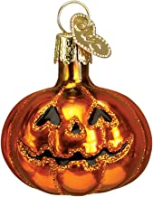 Old World Christmas Glass Blown Ornament with S-Hook and Gift Box, Halloween Collection (Mini Jack-O-Lantern)
