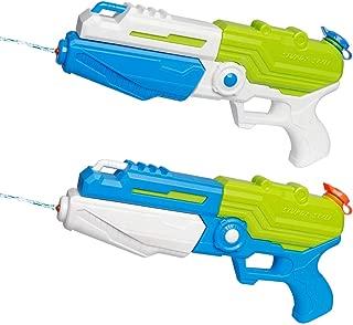 D-FantiX Water Gun 2 Pack, Super Water Blaster Soaker Squirt Guns Bulk High Capacity Summer Beach Pool Party Favors Water Outdoor Fighting Toy for Kids Adults Boy Girl