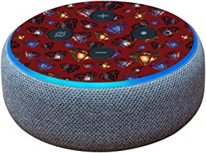 MightySkins Skin Compatible with Amazon Echo Dot (3rd Gen) - Diamond Galaxy | Protective,...