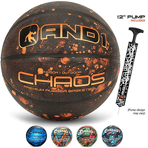 AND1 Chaos Rubber Basketball: Deflated w/Pump Included Official Regulation Size