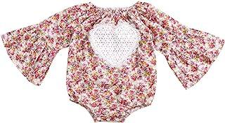 662e5ce25fc Floral Newborn Kid Clothes Summer Infant Flower Print Buttons Baby Ruffles  Short Sleeve Romper Bodysuit Jumpsuit