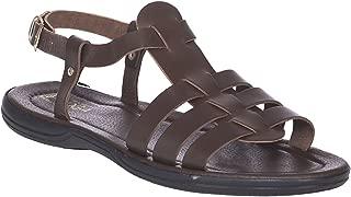 Greek Leather Sandals for Men. Hercule Brown Handmade Leather Sandals