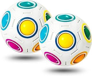Unzip Educational Toys, Relieve Stress, Magic Ball, Brain teasers, Fidget Toy Game, Unzip Magic Rainbow Ball for Teenagers...