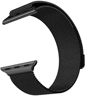 Milanese Loop for Apple Watch 44mm 42mm, Stainless Steel Alloy Replacement Watch Band for iWatch Series 5/4/3 (Space Black)