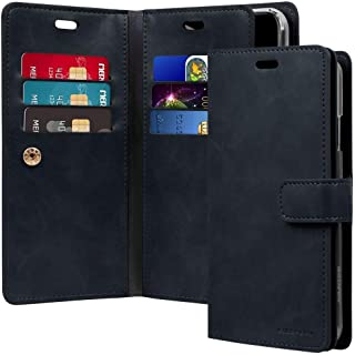iPhone XS Max Leather cover Protection Wallet with Multi Pockets Case, Navy